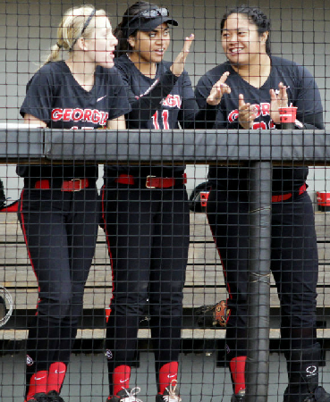 Cricket Blanco, Kaylee Puailoa, and Tina Iosefa enjoying the beginning to the 2013 season.