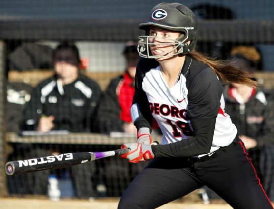 Senior Christine Olney leads Georgia in batting average with a .451 clip and 22 RBI.