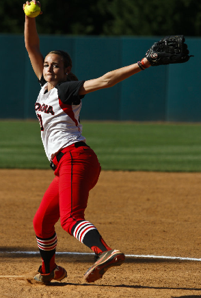 Chelsea Wilkinson in relief action against Western Carolina on Wednesday in Athens.