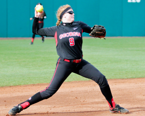 Paige Wilson, recently shifted over to third base, played the hot corner with ease against the Gamecocks on Saturday and Sunday.