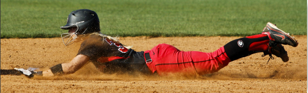Tess Sito slides into second base on a beautifully executed steal against Texas A&M