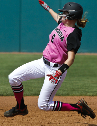 Paige Wilson slides into second base on Sunday against LSU at Jack Turner Stadium.